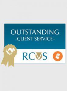 RCVS PSS Client service award